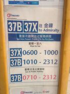 Chi Fu 37B and 37X timetable 05-05-2016