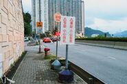 Ma Wan Pier Slow down signs 201606