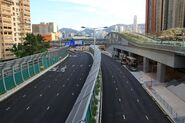 Hoi Wang Road outside West Kowloon Station Bus Terminus 2