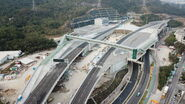 Tuen Mun Chek Lap Kok Tunnel Interchange - Drone 1