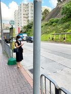 Kowloon 41A and 41M minibus stop in Shek Kip Mei Station 03-06-2020