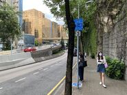 Kowloon Park Drive resident bus stop 29-07-2021