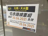 Tuen Mun to Chek Lap Kok Road Yuen Long bus route change poster 22-06-2021