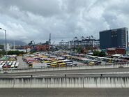 Many bus park in Kwai Chung 09-07-2020