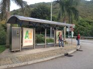 Discovery Bay Tunnel Toll Plaza bus stop 21-04-2015