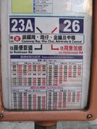 23A 26 combined timetable