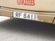 RF8411 Number plate