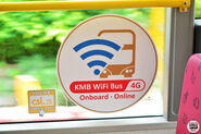 KMB TF7621 WiFi Roundel on Lower Deck