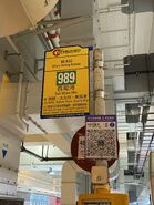 CTB 989 bus stop in Chun Yeung Estate 30-04-2021