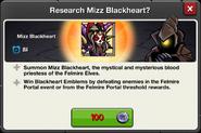 Mizz Blackheart research