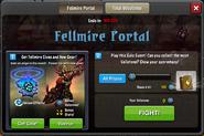 Event Fellmire Portal window