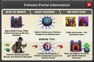 Event Fellmire Portal window info