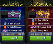 Collection Conquerors shop