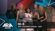 Hi-5 wins Best Children's Album 2001 ARIA Awards