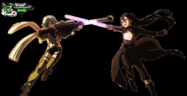 Sword Art Online Shinon+Kirito Kakoiii OP GGO Render.png