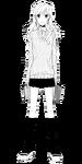 Kyouko wearing her sweater