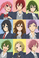 Horimiya Key Visual (tecken)
