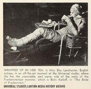 Elsa lanchester bride of frankenstein costume make up uni 35 motion picture herald