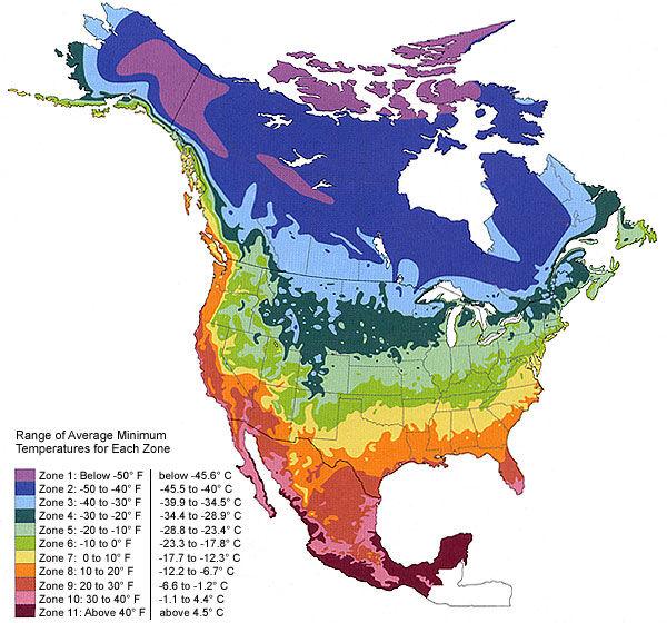 Climate Zones Map - Northern Hemisphere