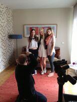 """Carola, Hanna und Julia beim """"Yeah"""" Shooting in München"""