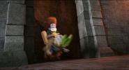Quasimodo goes to the kitchen with a captured Johnnystein
