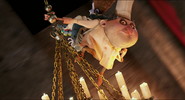 Quasimodo sees Garyoles flying to rescue Johnnystein