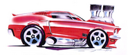 '68 Mustang Sketch