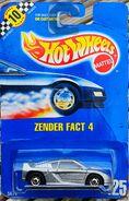 1991 Hot Wheels Zender Fact 4 carded
