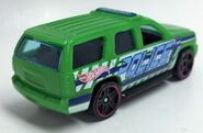 Chevy Tahoe Police. Lime. Persp Vue