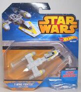 Y-wing fighter blue