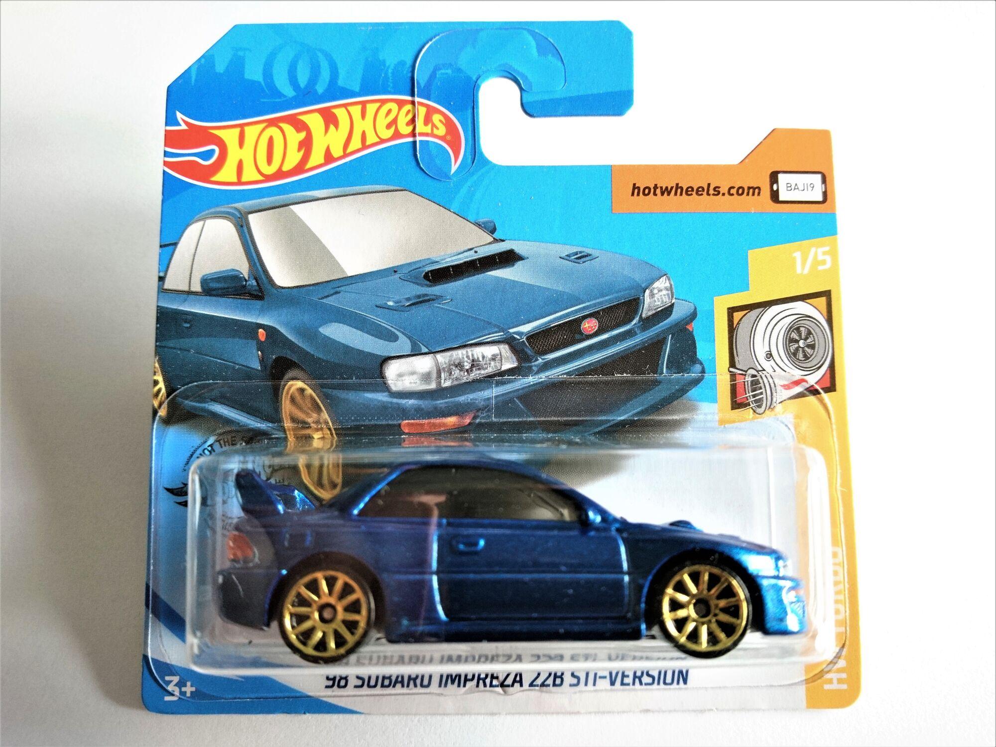 Hot Wheels 98 Subaru Impreza 22B STI-Version 1//5 HW Turbo 23//250 2020
