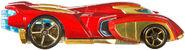 BDM74 Hot Wheels Marvel Character Cars - Iron Man Marvel Cars Iron Man XXX 4