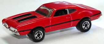 Olds 442 W-30 #240 Hot Wheels Lifted Chrome Rims HW Art Cars Red