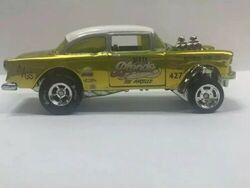 Hot Wheels /'55 Chevy Chevrolet Bel Air Gasser Display Case Exclusive RLC New CA