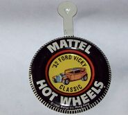 Classic '32 Ford Vicky HK Collector Button