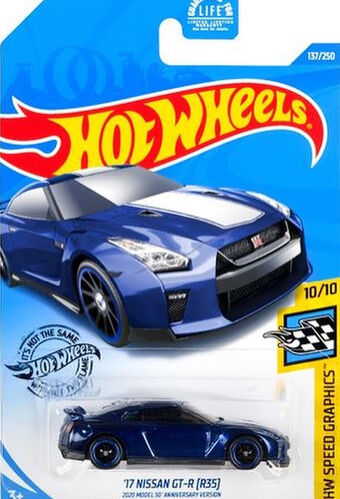 Hot Wheels /'17 Nissan GT-R 2020 Model 50/' anniversary version GHC83-D521 R35