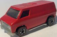 Custom red 70s van