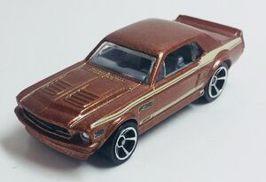 '67 Custom Mustang Coupe. Metallic brown