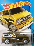 2015 020-250 HW City - Performance - Custom '77 Dodge Van -Mooneyes- -Super Treasure Hunt- Yellow