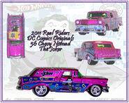 2011 HW Real Riders DC Comics Originals 56 Chevy Nomad Joker
