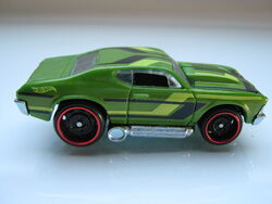 2011 Hot Wheels 69 Chevelle Clear Orange #76//244
