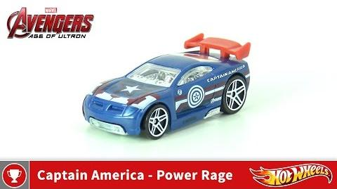 Hot Wheels - Marvel Avengers Age of Ultron - Captain America - Power Rage (4K UHD)
