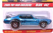 2005 Toy Fair Exclusive Blue Olds 442 Hot Wheels Classics Series
