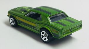 '67 Ford Mustang Coupe. Metallic Green. Rear