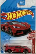 Hot Wheels 2021 Red Edition Corvette C8.R carded