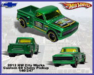 2012 HW City Works Custom 69 Chevy Pickup 140-247