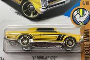 67 Pontiac GTO Yellow