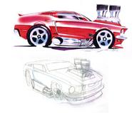 '68 Mustang Sketches