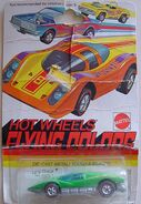 1974 LArge Charge-red flying colors-die cast in yellow- 74 check list front