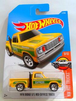 Yellow /& Blue 2017 Hot Wheels 1978 Dodge Li/'l Red Express Walgreens Exclusive